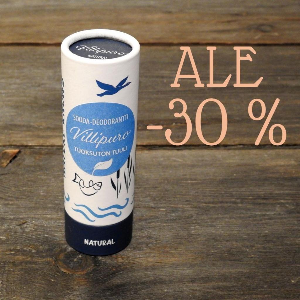 Vanhemman erän TUULI tuoksuton Sooda-deodorantti (unisex), 65g