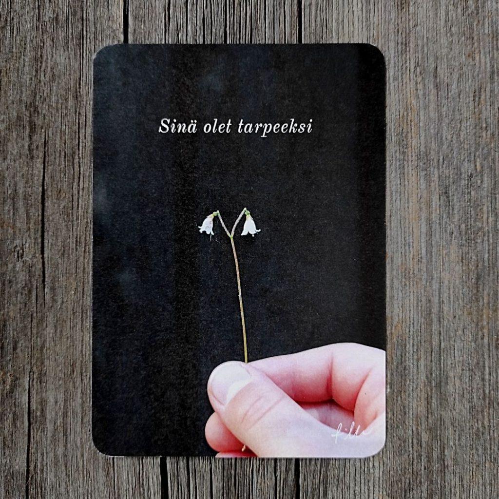 Sinä olet tarpeeksi -kortti